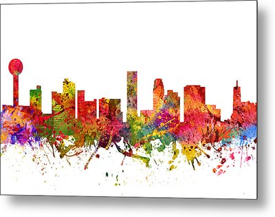 Knoxville Cityscape 08 Metal Print by Aged Pixel