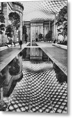 Kogod Courtyard I Metal Print by Steven Ainsworth