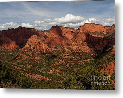 Kolob Canyon Zion Np Metal Print by Scott Nelson