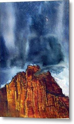 Kolob Thunderstorm Metal Print by Russell Cornelius
