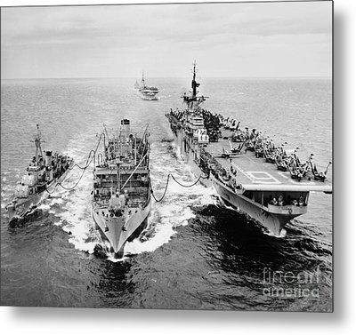 Korean War: Ship Refueling Metal Print by Granger