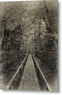 Koto-in Zen Temple Forest Path - Kyoto Japan Metal Print by Daniel Hagerman