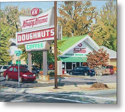 Krispy Kreme At Daytime Metal Print by Tommy Midyette