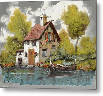 La Barca Metal Print by Guido Borelli