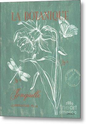 La Botanique Aqua Metal Print by Debbie DeWitt