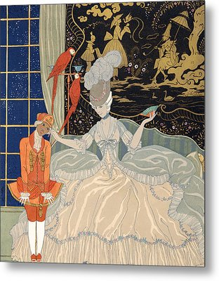 La Comtesse From Personages De Comedie Metal Print by Georges Barbier