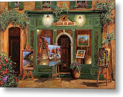 La Galleria Del Corvo Metal Print by Guido Borelli