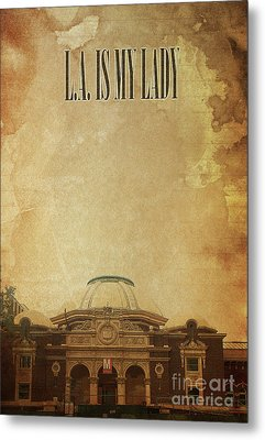 L.a. Is My Lady, Jazz Standard Poster For Men Office Metal Print by Pablo Franchi
