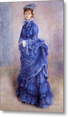 La Parisienne The Blue Lady  Metal Print by Pierre Auguste Renoir