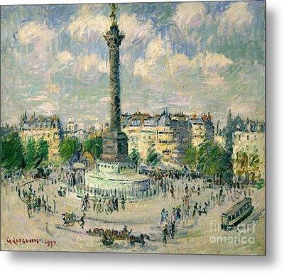 La Place De La Bastille Metal Print by Celestial Images