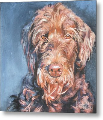 Labradoodle Metal Print by Lee Ann Shepard