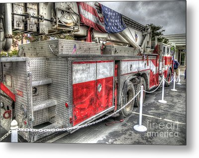 Ladder Truck 152 - 9-11 Memorial Metal Print by Eddie Yerkish