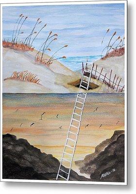 Ladderway Metal Print by Edwin Alverio