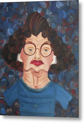 Lady In Blue Metal Print by Suzanne  Marie Leclair