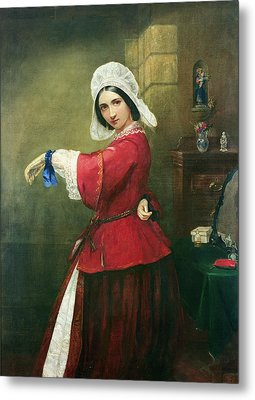 Lady In French Costume Metal Print by Edmund Harris Harden