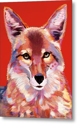Lady In Red Metal Print by Bob Coonts