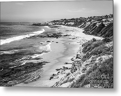 Laguna Beach Ca Black And White Photography Metal Print by Paul Velgos