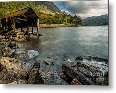 Lake Gwynant Autumn Metal Print by Adrian Evans