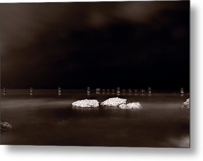 Lake Ice Metal Print by Steve Gadomski