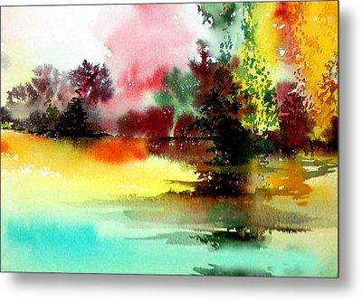 Lake In Colours Metal Print by Anil Nene