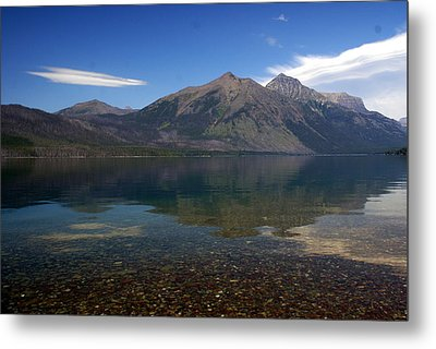 Lake Mcdonald Reflection Glacier National Park 2 Metal Print by Marty Koch