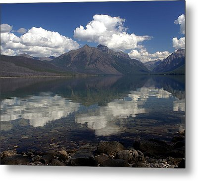Lake Mcdonald Reflection Glacier National Park Metal Print by Marty Koch