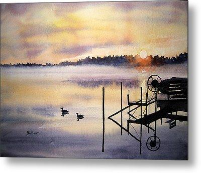 Lake Mist Metal Print by Shirley Braithwaite Hunt