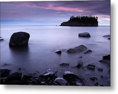 Lake Superior Twilight Metal Print by Eric Foltz