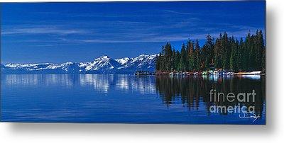 Lake Tahoe Reflections Metal Print by Vance Fox