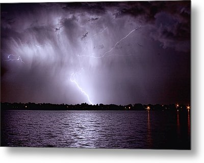 Lake Thunderstorm Metal Print by James BO  Insogna