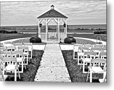 Lakefront Wedding Metal Print by Frozen in Time Fine Art Photography