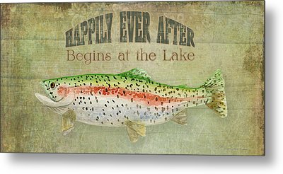 Lakeside Lodge - Happily Ever After Metal Print by Audrey Jeanne Roberts