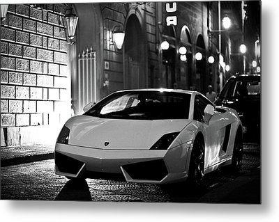 Lambo Noir Metal Print by Patrick English