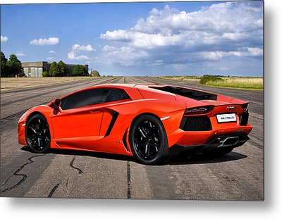 Lambo Runway Metal Print by Peter Chilelli