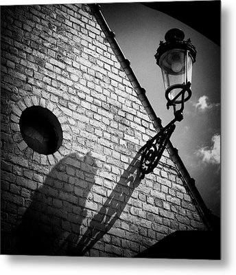 Lamp With Shadow Metal Print by Dave Bowman