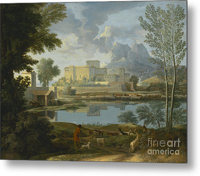 Landscape With A Calm Metal Print by Celestial Images