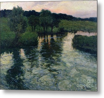Landscape With A River Metal Print by Fritz Thaulow