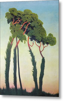 Landscape With Trees Metal Print by Felix Edouard Vallotton