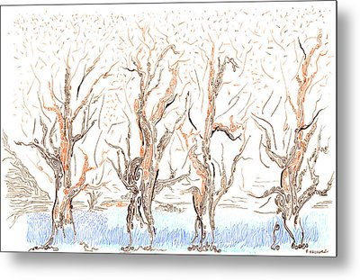 Lane Metal Print by Regina Valluzzi