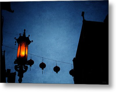 Lanterns- Art By Linda Woods Metal Print by Linda Woods