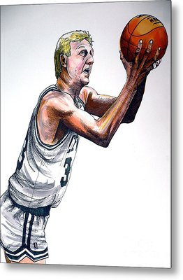 Larry Bird Metal Print by Dave Olsen
