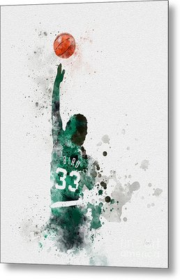 Larry Bird Metal Print by Rebecca Jenkins