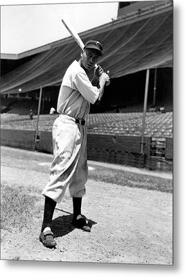 Larry Doby, Circa 1947 Metal Print by Everett