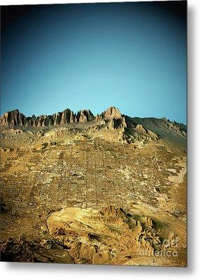 Las Vegas 3d View East To West Natural Color Metal Print by Frank Ramspott