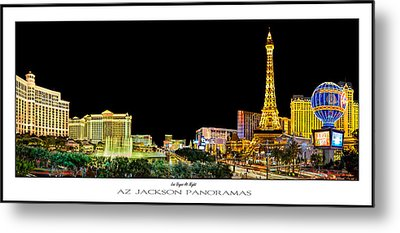 Las Vegas At Night Poster Print Metal Print by Az Jackson