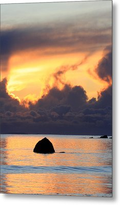 Last Flame Marking The Passing Of A Loved One Metal Print by Pierre Leclerc Photography