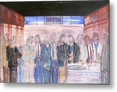 Last Supper 20th Century Metal Print by Marwan George Khoury