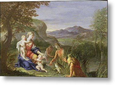 Latona And The Frogs Metal Print by Francesco Trevisani