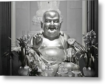 Laughing Buddha - A Symbol Of Joy And Wealth Metal Print by Christine Till