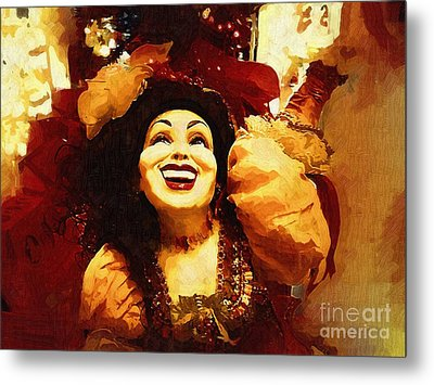 Laughing Gypsy Metal Print by Deborah MacQuarrie-Haig